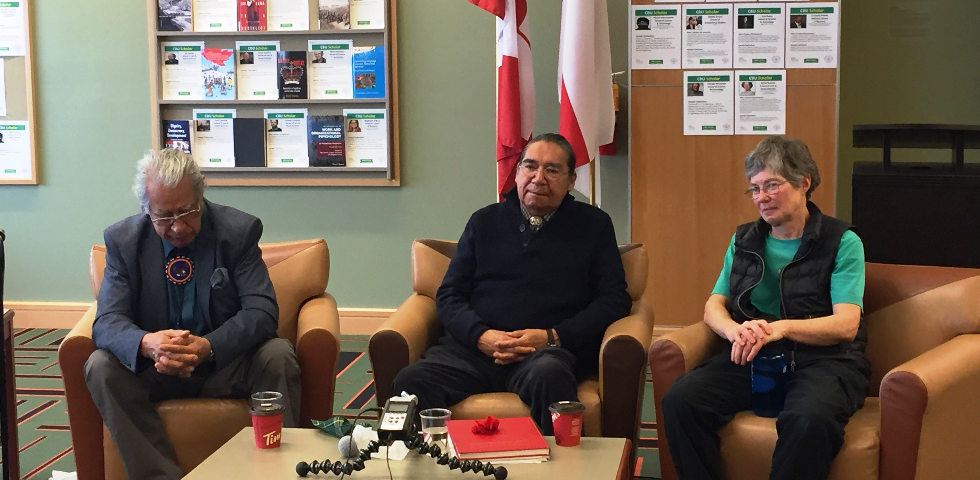Elder Dr. Albert Marshall, Dr. Cheryl Bartlett and Elder Stephen Augustine