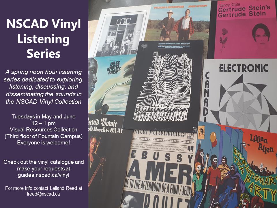 NSCAD Library Vinyl Record Listening series details