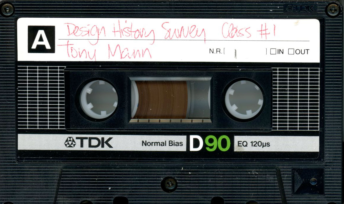 Image showing a tape found in NSCAD's repository