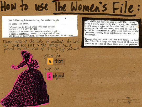 Image from NSCAD Feminist Collective Women's File fonds