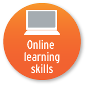 The Online Learning Skills tool button.