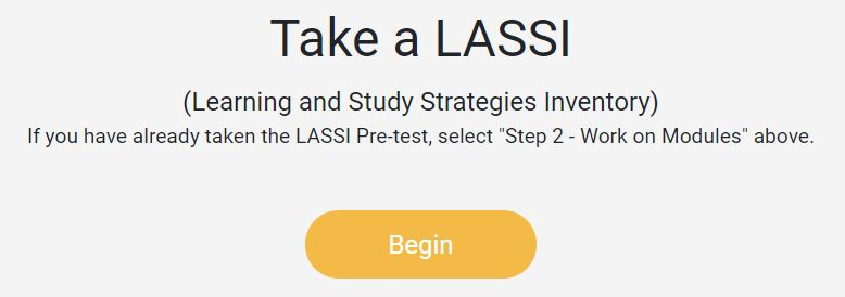 A hyperlinked screenshot of the LASSI start page.