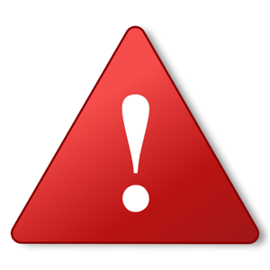 Red warning icon.
