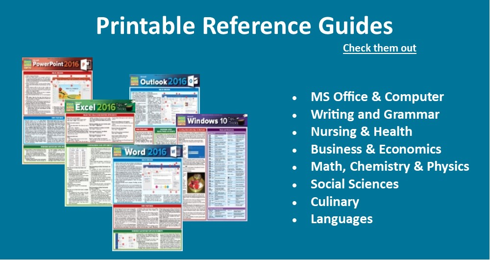 Printable Reference Guides