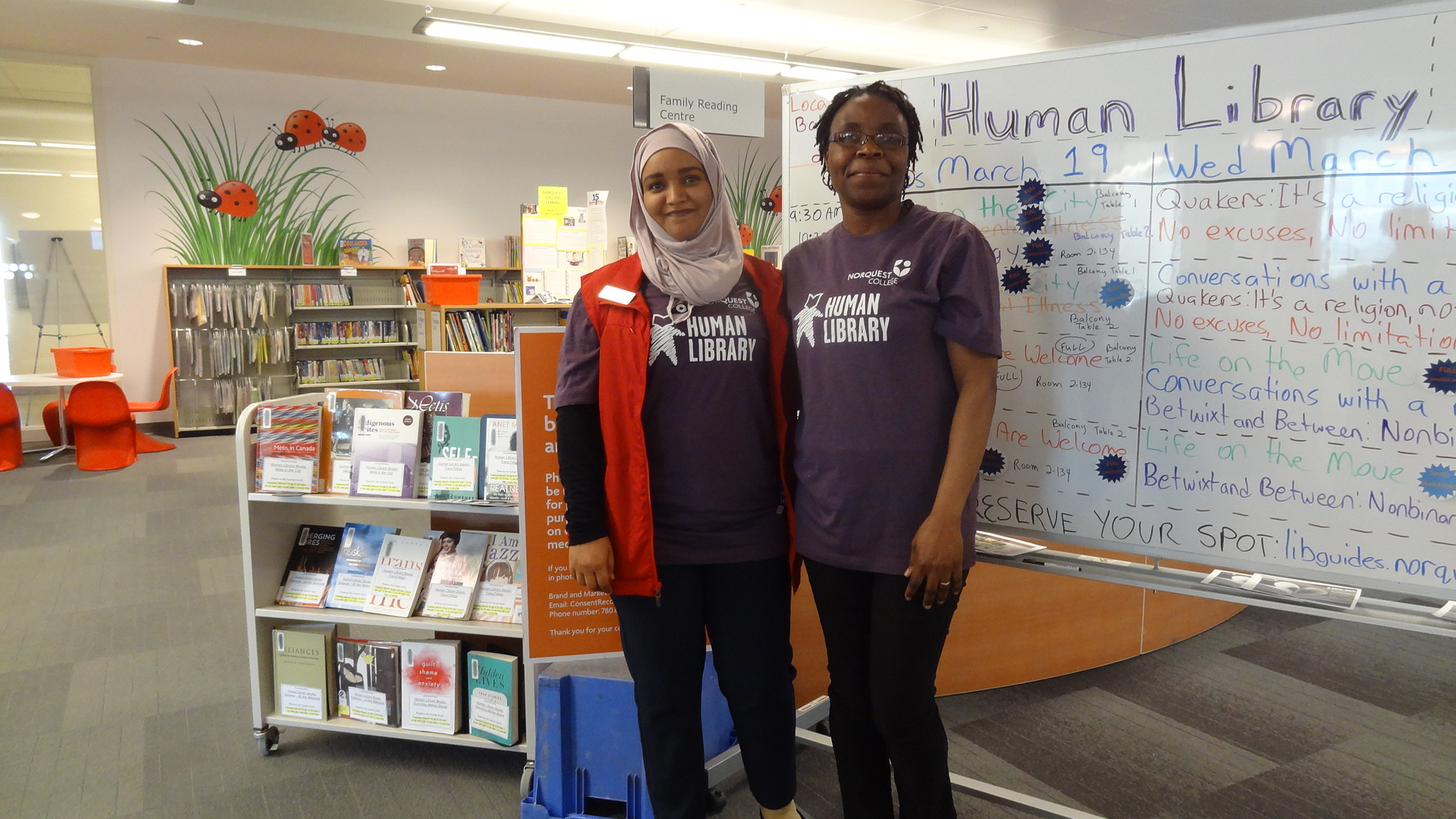 Two student volunteers