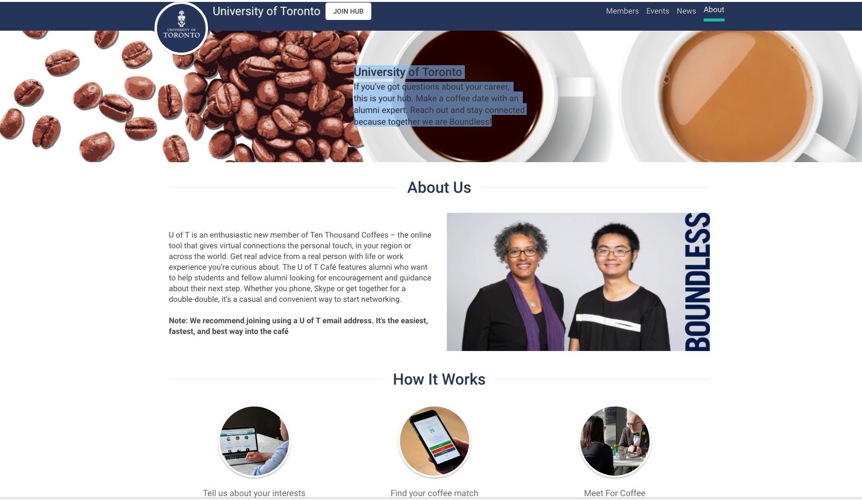 Ten Thousand Coffee - UofT Networking Opportunity