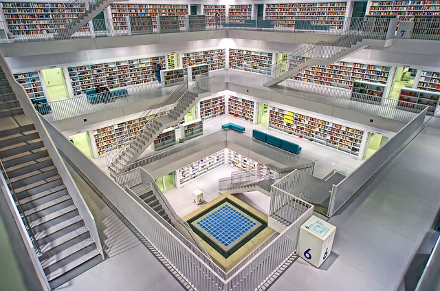 Inside of a research library in Europe
