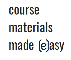 course materials made (e)asy