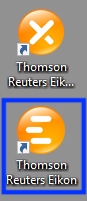 Screenshot of Eikon desktop icon.