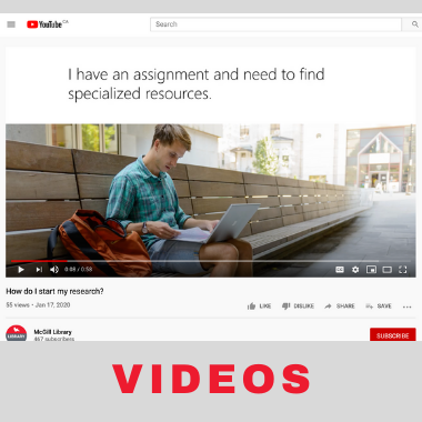 Library YouTube videos
