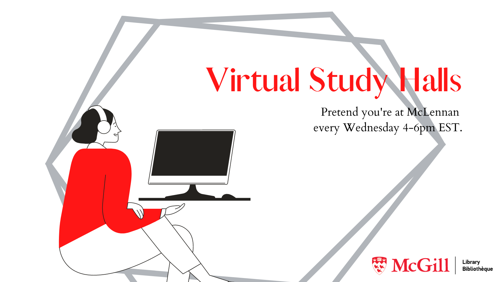 virtual study hall every wednesday 4-6pm EST