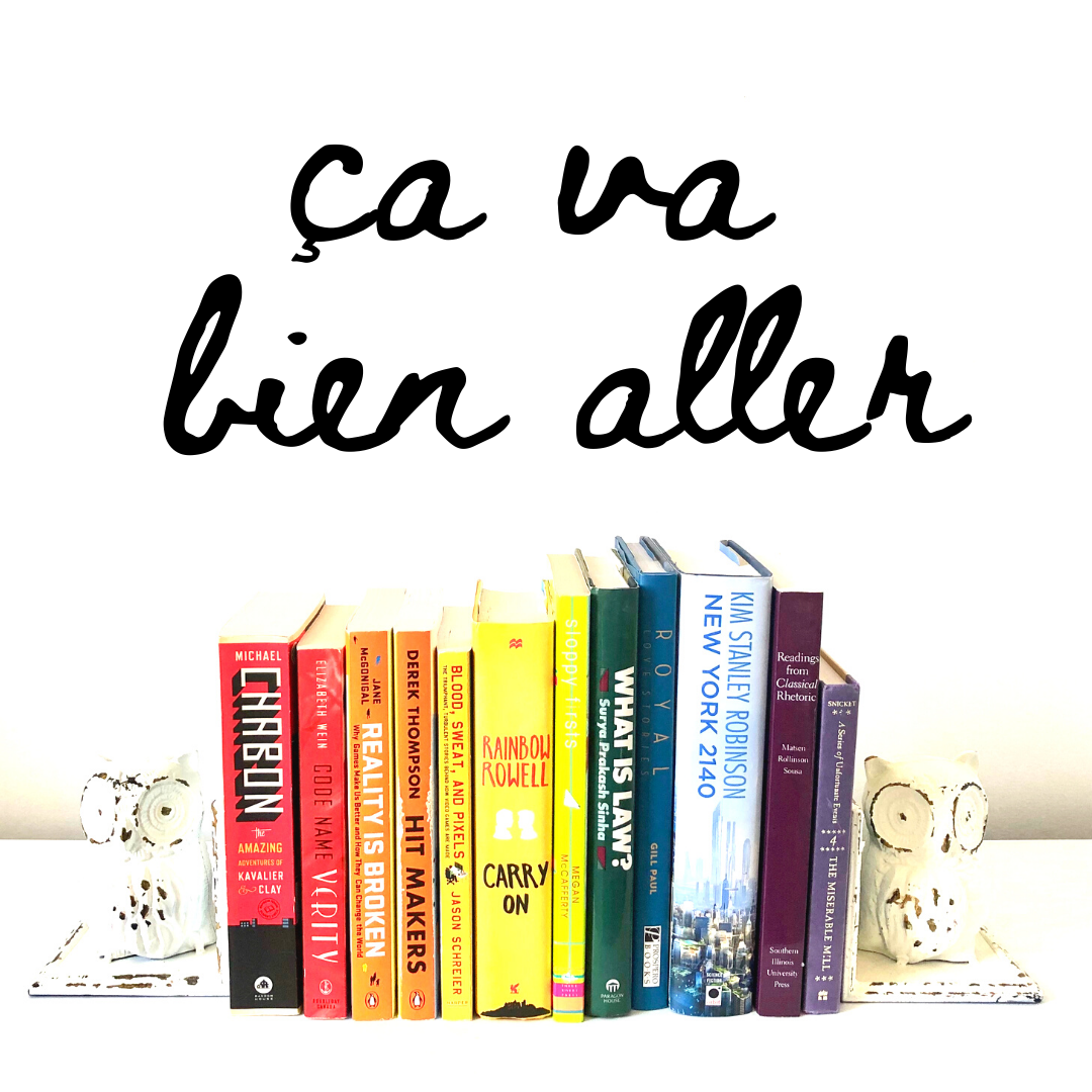 book covers in the shades of a rainbow - ça va bien aller