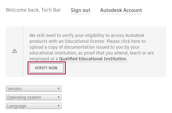 "Autodesk ""verify email"" example"