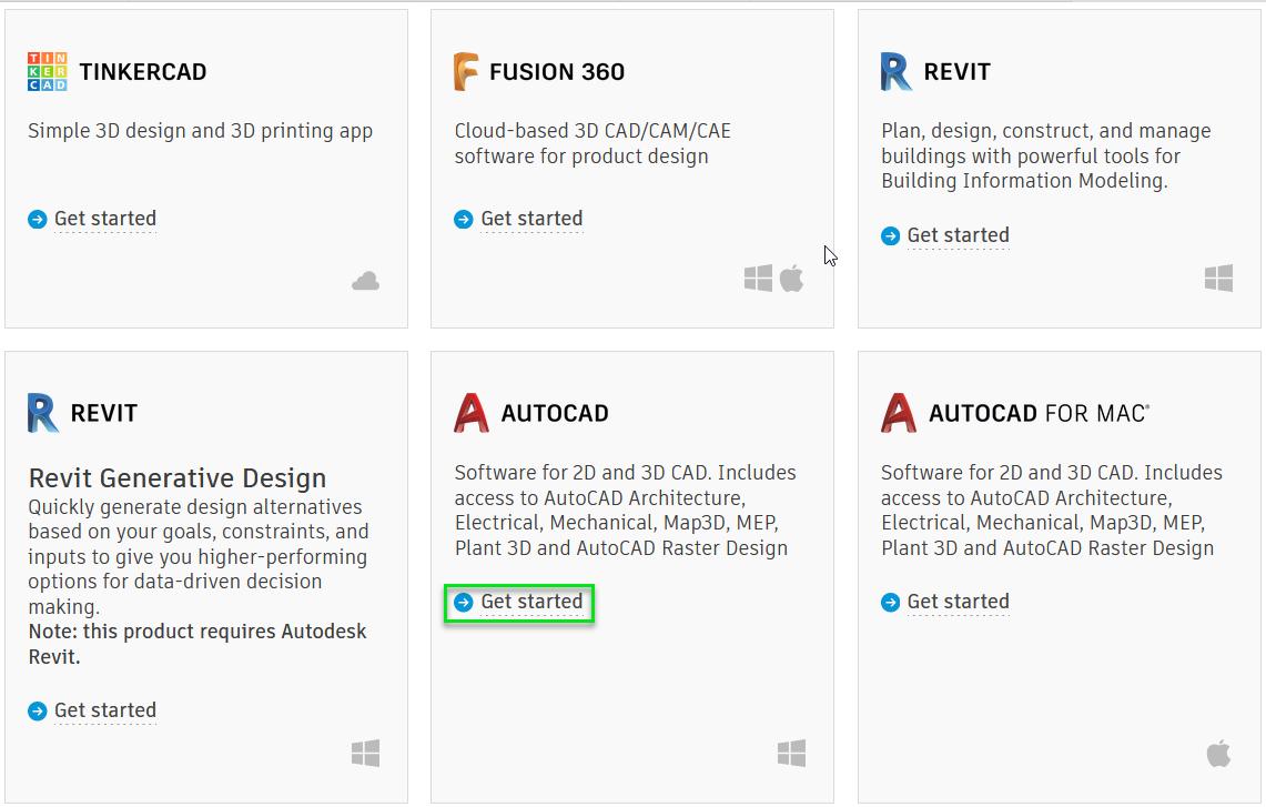 Autodesk software list
