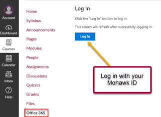 Office 365 Login button