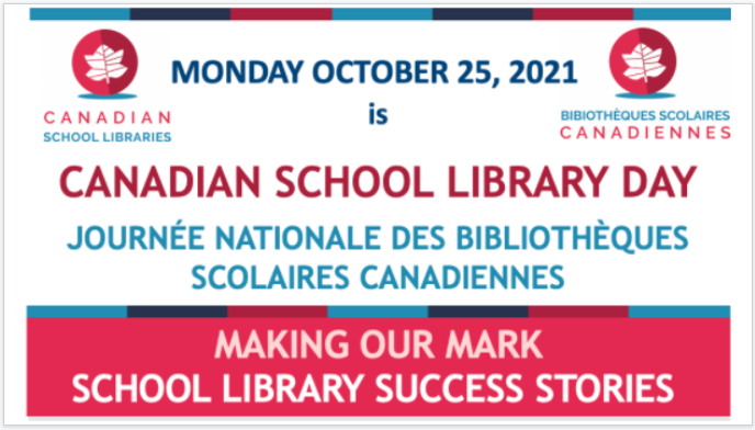 Canadian School Library Day is October 25