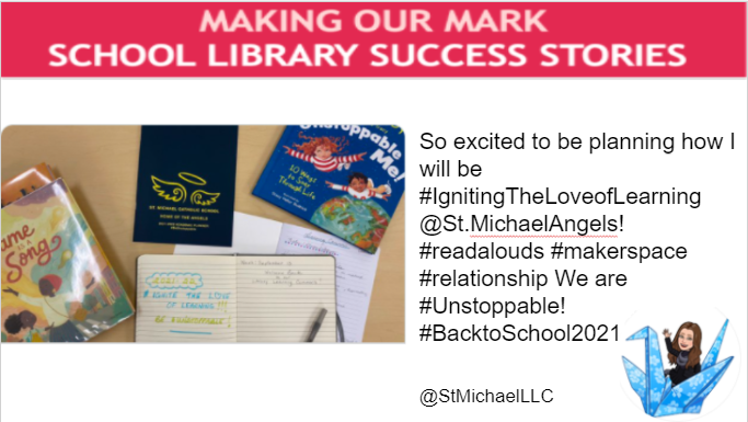So excited to be planning how I will be #IgnitingTheLoveofLearning @St.MichaelAngels!