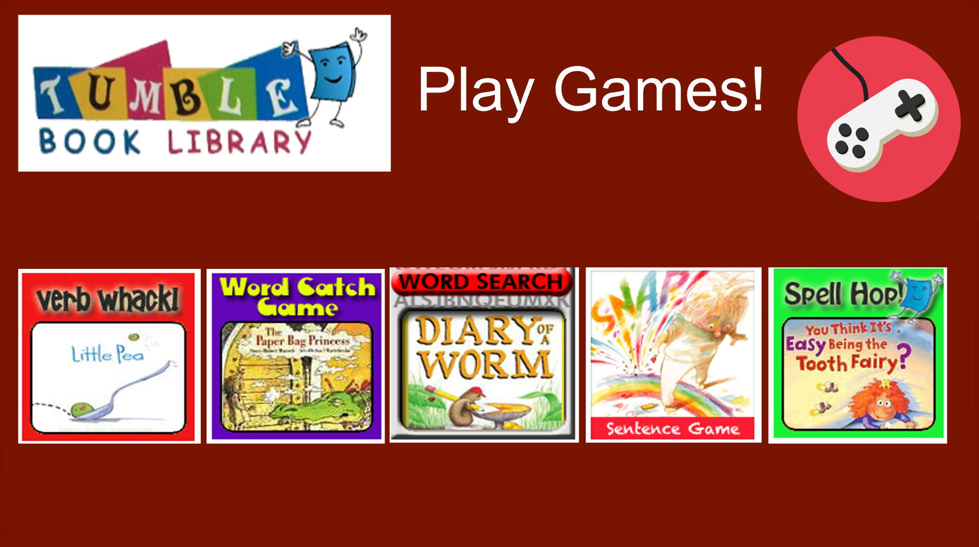 Tumble Book Library: Play Games!