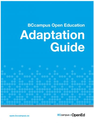 BCcampus Adaptation Guide Cover