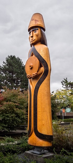 Musqueam house post