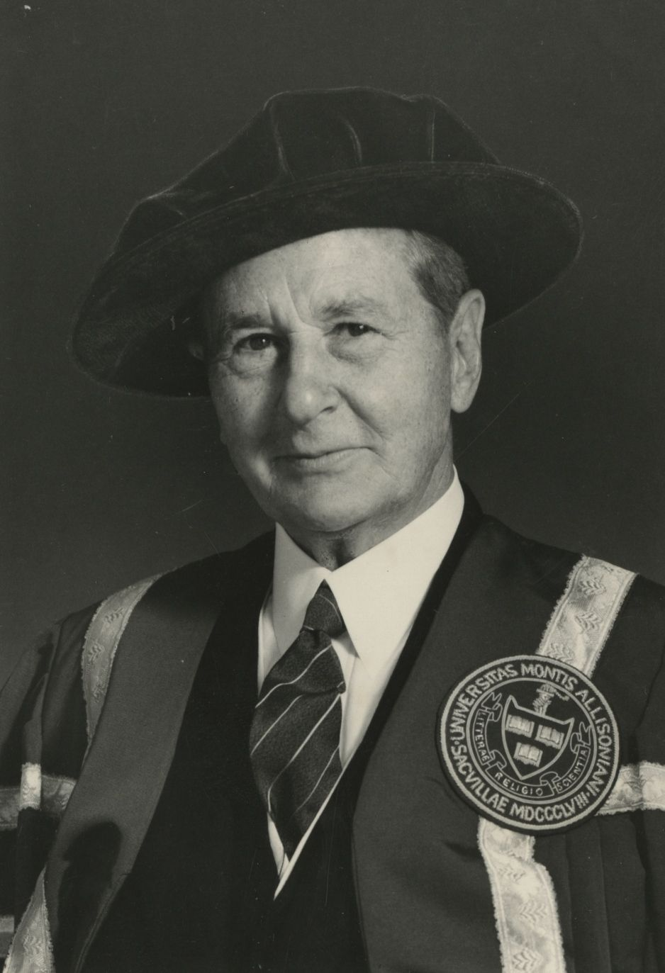Ralph Pickard Bell in his chancellor robes.