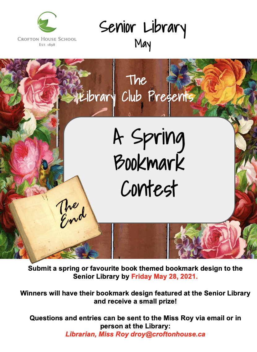 Library Spring Bookmark Contest May 2021