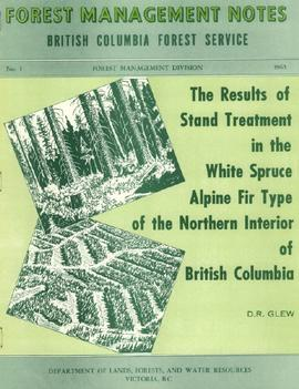 2007.1.25.4.09 - The Results of Stand Treatment in the White Spruce Alpine Fir Type of the Northern Interior of British Columbia