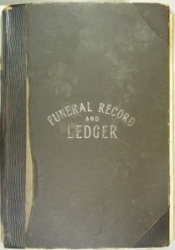 Image of the cover of the Corless Funeral Record and Ledger