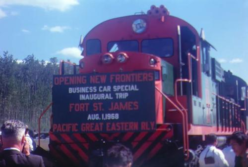 Opening of Pacific Great Eastern Railway (PGE) Line in Fort St James
