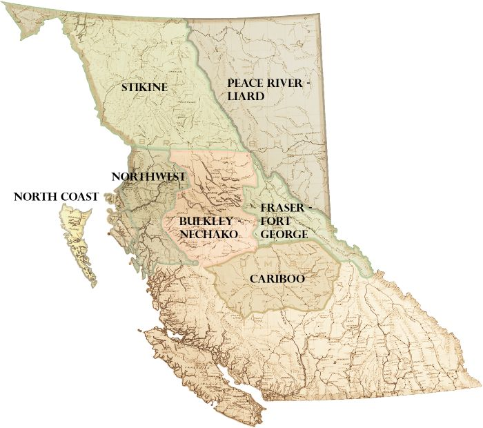 Regional map of Northern BC