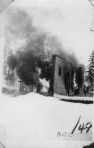 Hotel at Stone Creek Fire c.1949