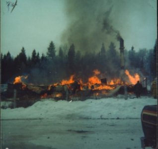 Fire at Stone Creek Hotel c.1949