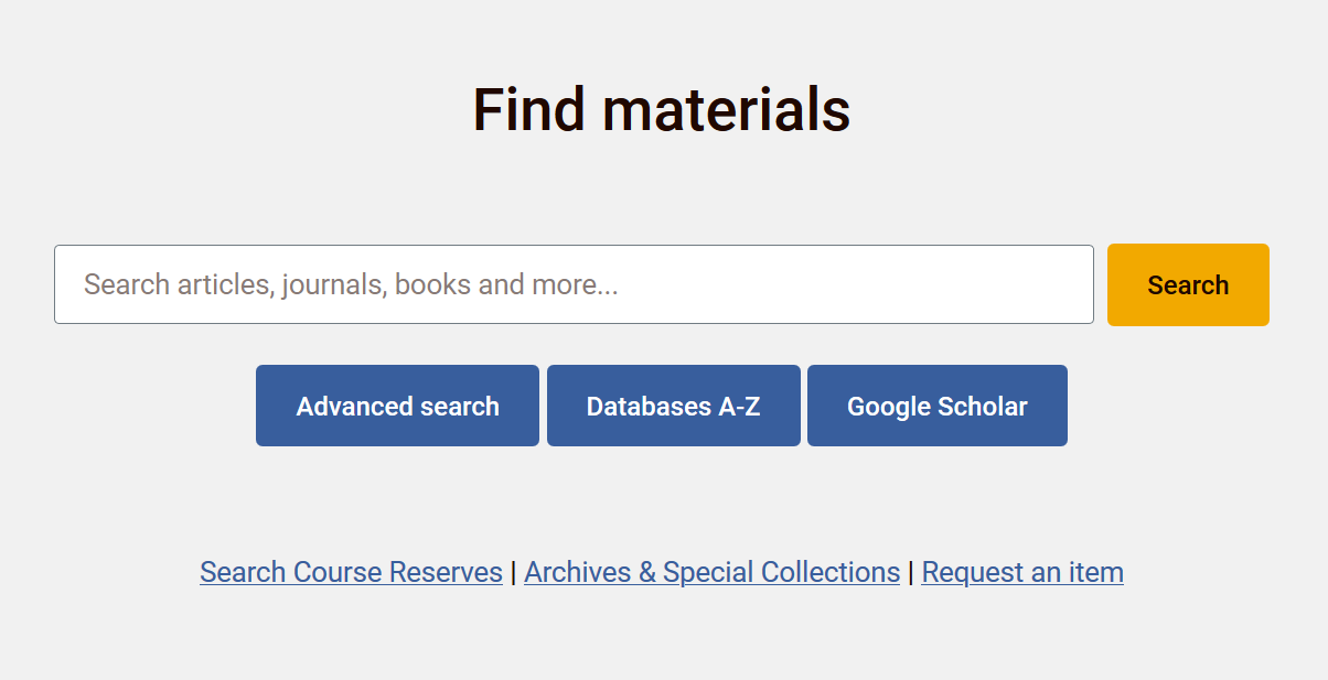 Search for materials