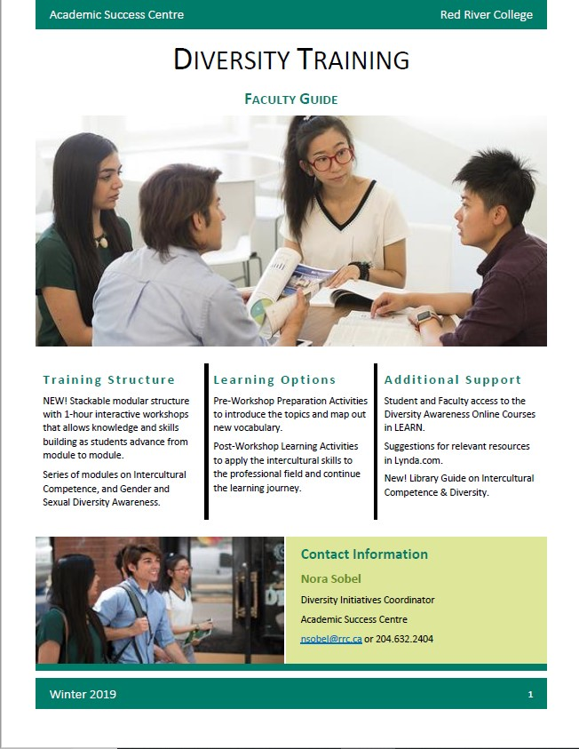 Cover of the Diversity Training Faculty Guide