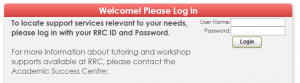 Screenshot of TutorTrac Log In page