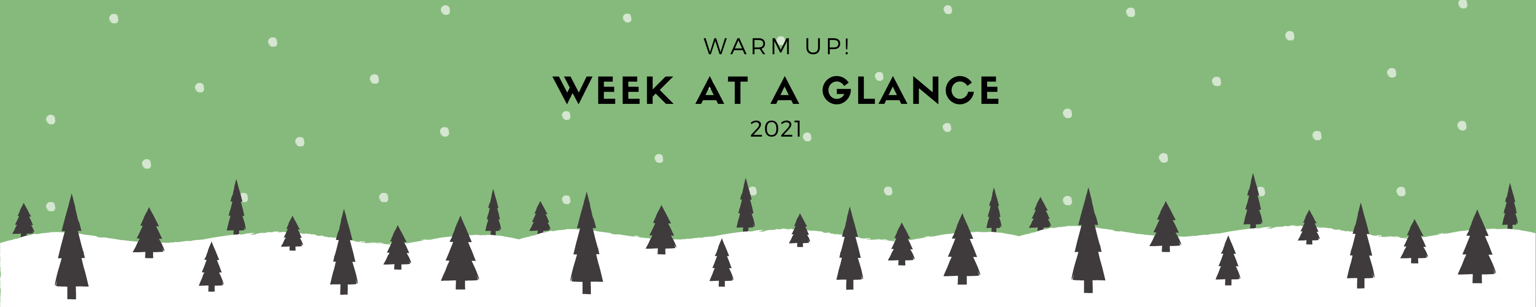 Week at a Glance banner