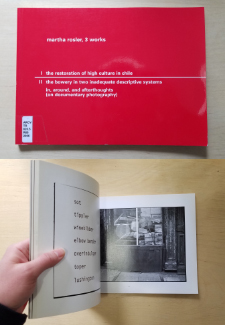 Red cover with white text reading