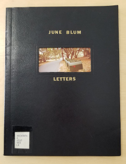 The black cover of June Blum's