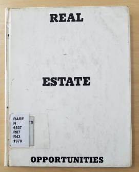 The plain white cover for Ruscha's