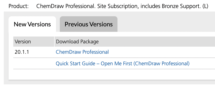 Link to Download ChemDraw