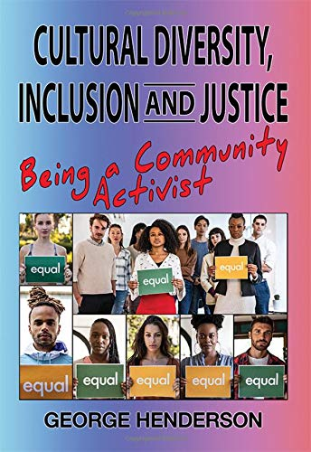Two rows of four people each on the bottom half of the cover; people are each holding signs that say 'equality'.