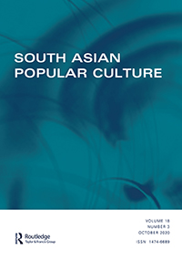 Blue and turquoise background with 'South Asian Popular Culture' written in white.