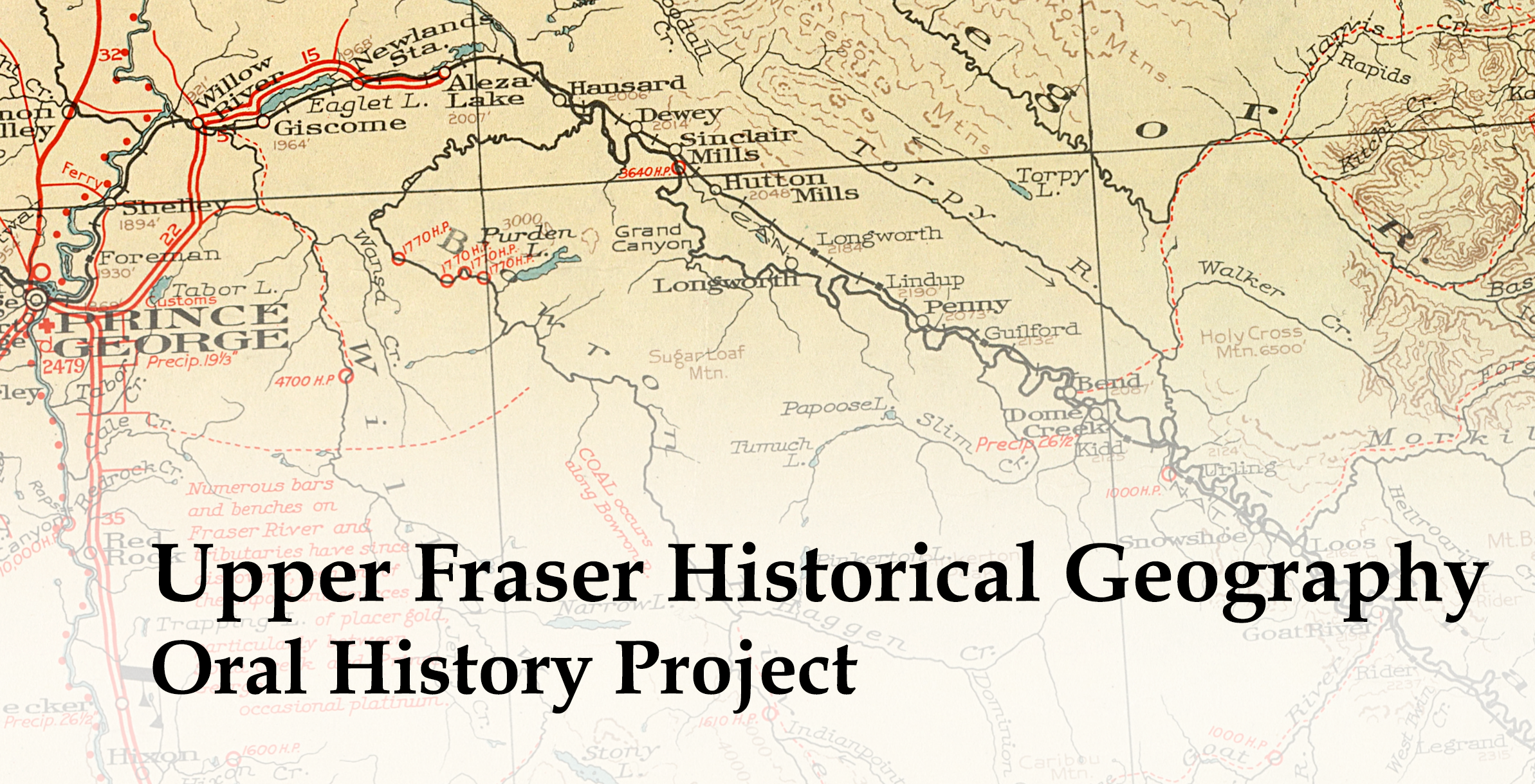 Upper Fraser Historical Geography Project