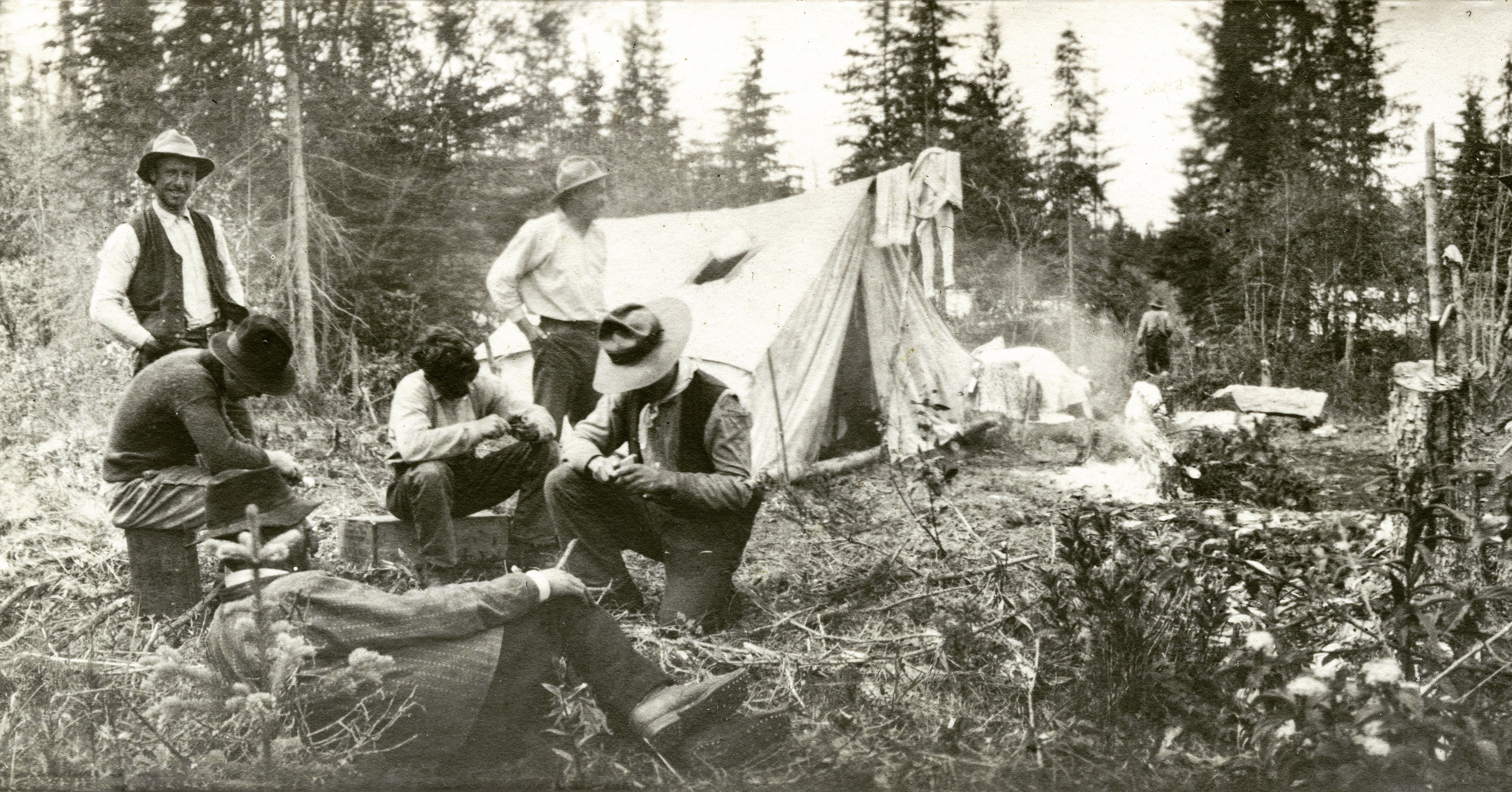 Sunday in Camp, Giscome Portage