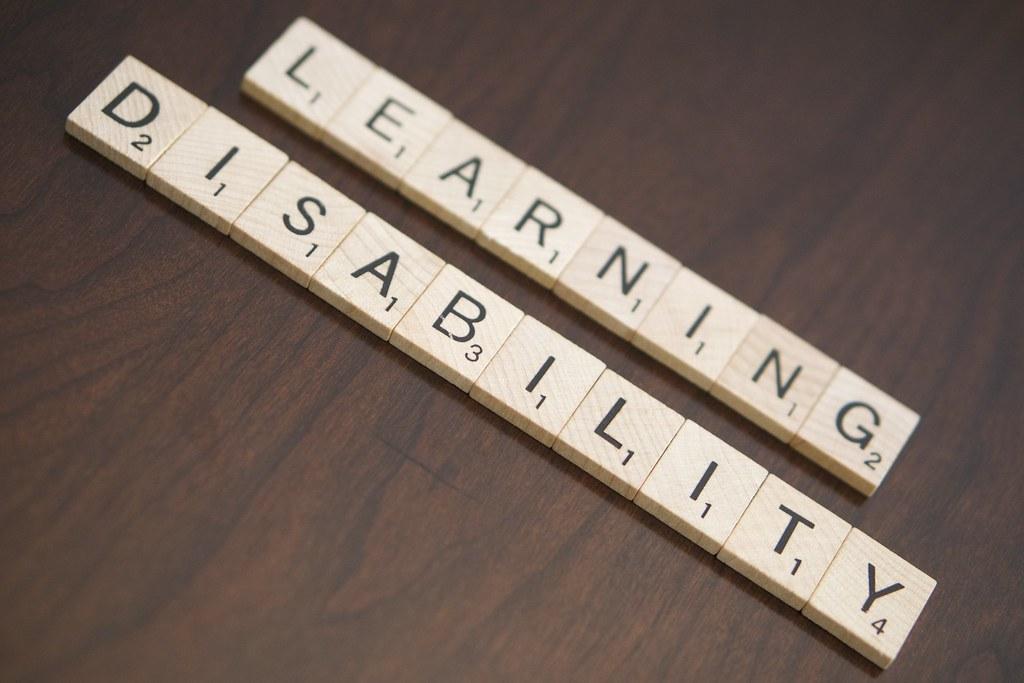 Learning disability spelled in Scrabble tiles