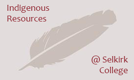 Indigenous Resources at Selkirk College feather logo