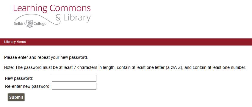 image of password form