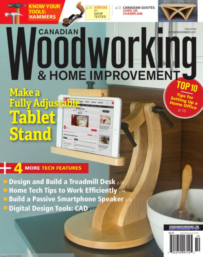 Wooden adjustable tablet stand