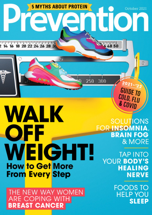 Yellow scale for weight with a pair of brightly coloured walking shoes.