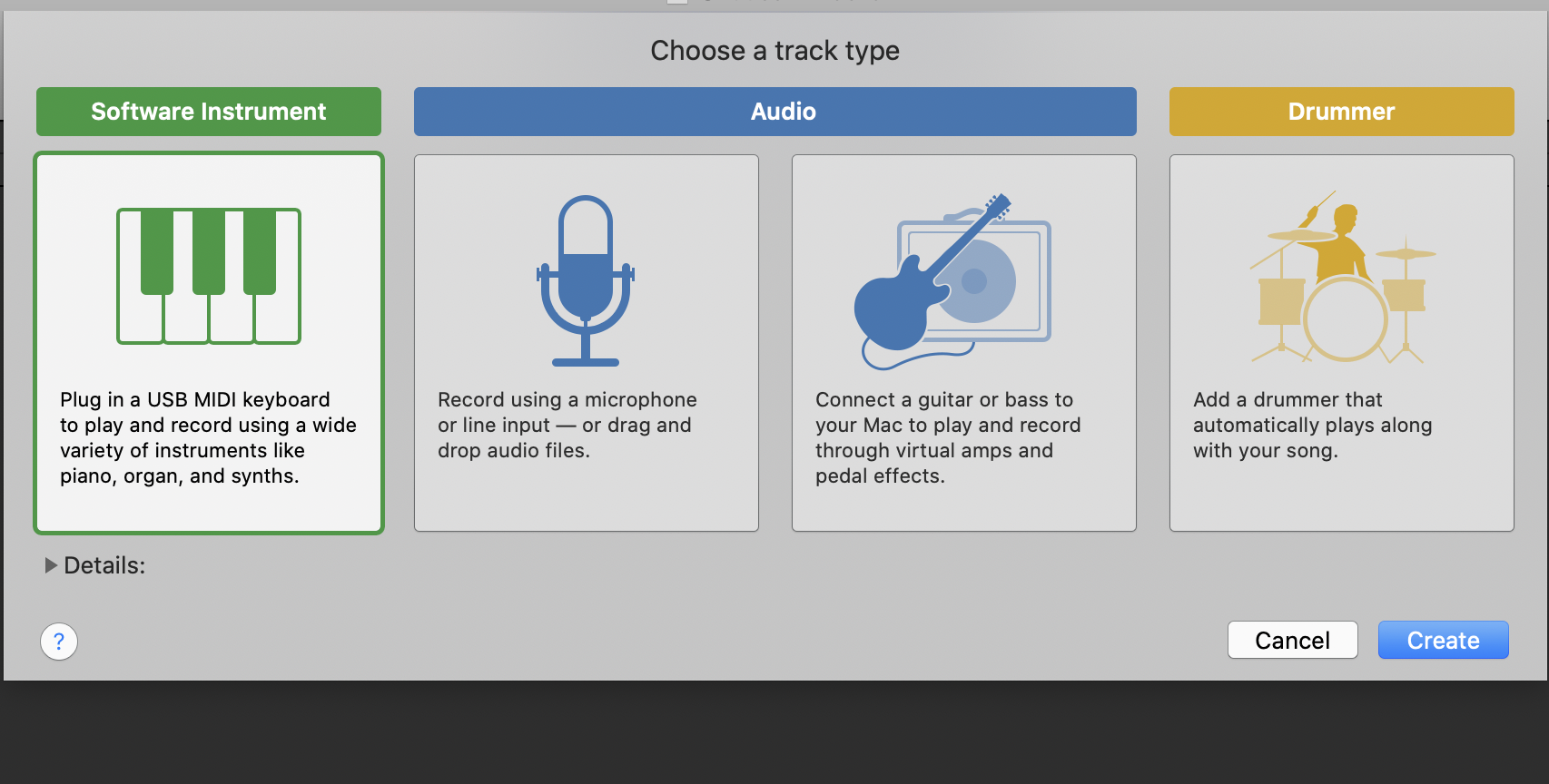 Choose the instrument